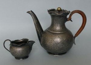 Dzbanek i mlecznik(Anglia, k.XIX w.),