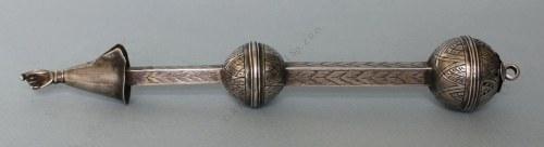 Jad(I poł.XX w.) nsygn., srebro pr.? (brak punc), 122.5 g, dł. 23.5 cm