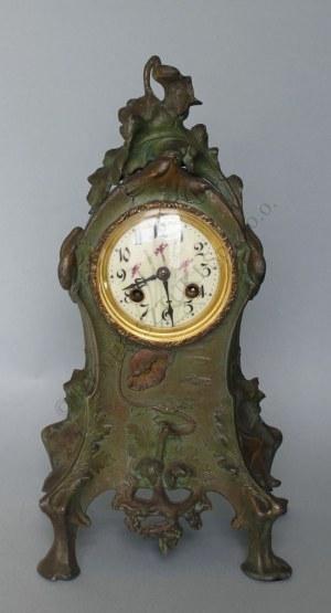 Zegar kominkowy secesyjny(Francja, pocz.XX w.),