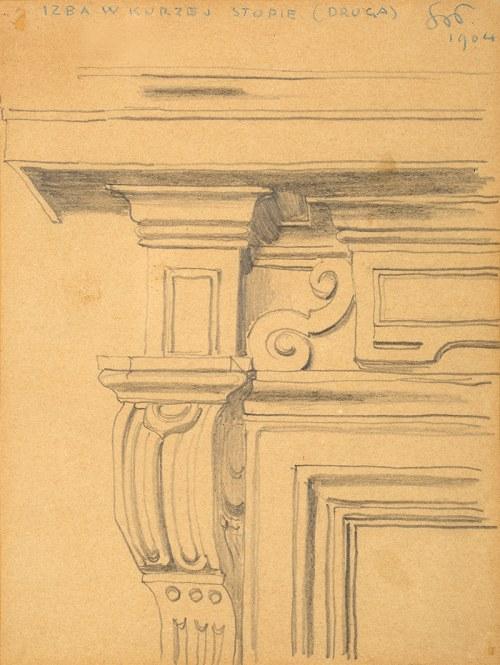 Stanisław Wyspiański (1869-1907), Izba w kurzej stopie (szkic), 1904