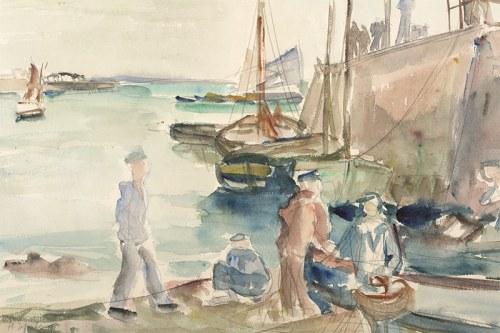 Henryk Epstein (1891-1944), Scena w porcie, nd.