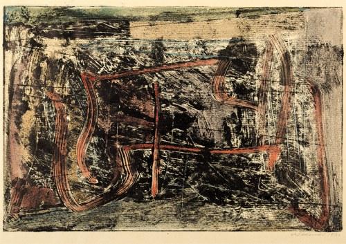 Czesław Sadowski (1902-1959), Kompozycja III - z żółtym akcentem, 1958