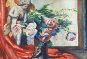 Teodor GROTT (1884-1972), Róże i aniołek