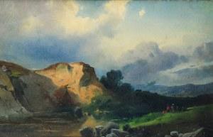 Chrystian BRESLAUER (1802-1882) przypisywany, Pejzaż
