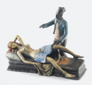 Franz Xavier BERGMANN (1861-1936), Grupa figuralna - erotyk