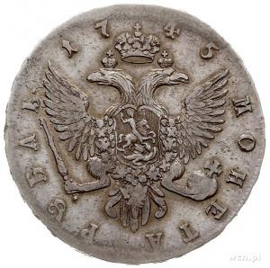 rubel 1745 СПБ, Petersburg, srebro 25.39 g, Bitkin 260,...