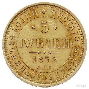 5 rubli 1872 СПБ HI, Petersburg, złoto 6.57 g, Bitkin 2...