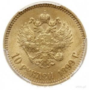 10 rubli 1899 (А.Г), Petersburg, złoto 8.60 g, Bitkin 4...