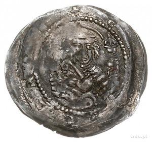 denar 1238-1241, Głogów lub Wrocław, Aw: Postać siedząc...