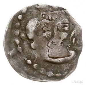 denar, Aw: Głowa w koronie na wprost, Rw: Orzeł heraldy...