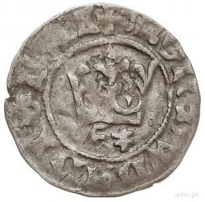 półgrosz koronny z lat 1416-1422, Wschowa, Aw: Korona, ...