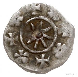 Barnim I 1264-1278, denar, Aw: Głowa gryfa w lewo, BARN...
