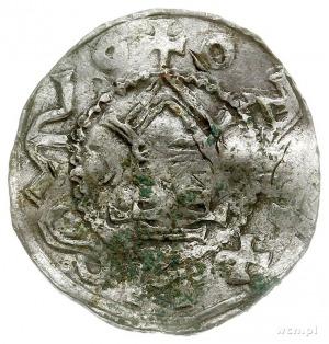 naśladownictwo denara krzyżowego z kapliczką, Aw: Kapli...