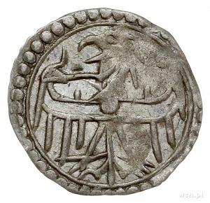Ks. Lubińskie, Henryk IX 1396-1420, halerz, Lubin, Aw: ...