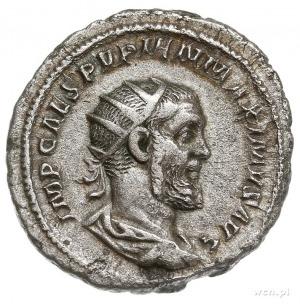 Pupienus 238, antoninian 238, Rzym, Aw: Popiersie cesar...