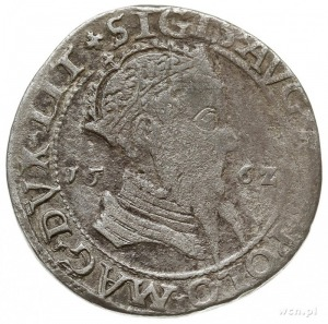 trojak 1562, Wilno, na awersie popiersie króla, Iger V....
