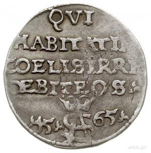 trojak 1565, Tykocin, Iger V.65.1.c (R5), Ivanauskas 9S...