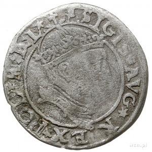 grosz na stopę litewską 1545, Wilno, Aw: Głowa króla w ...