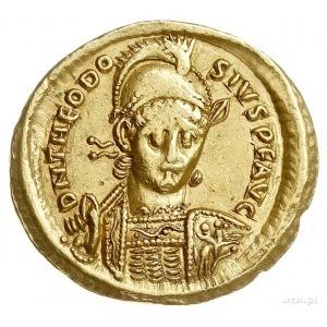Teodozjusz II 408-450, solidus 408-430, Konstantynopol,...