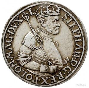 talar 1585 N-B, Nagybanya, Aw: Półpostać króla w prawo ...