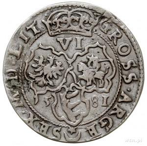 szóstak 1581, Wilno, odmiana bez znaku menniczego pomię...