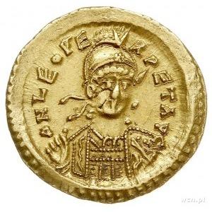 Leon I 457-473, solidus, Konstantynopol, Aw: Popiersie ...