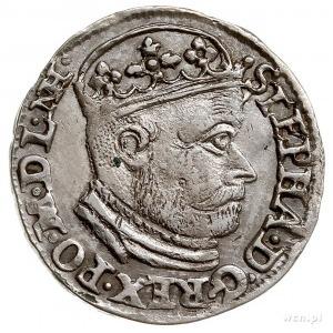 trojak 1586, Olkusz, na awersie na końcu napisu ligatur...