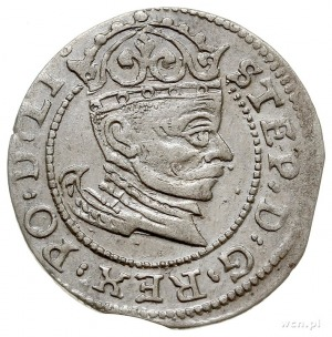 grosz 1582, Ryga, Gerbaszewski 1, moneta wybita z końca...