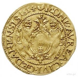 dukat 1614, Gdańsk, Aw: Popiersie króla w prawo i napis...