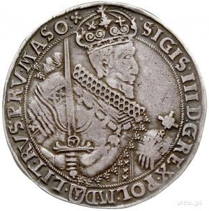 talar 1630, Bydgoszcz, Aw: Szerokie popiersie z kokardą...