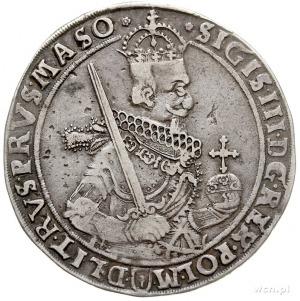 talar 1630, Bydgoszcz, Aw: Wąska półpostać króla z koka...
