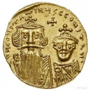 Konstans II 641-668 i Konstantyn IV 654-685, solidus 65...