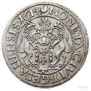 ort 1614, Gdańsk, kropka za łapą niedźwiedzia i duża cy...