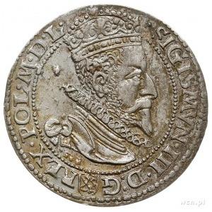szóstak 1599, Malbork, mała głowa króla, patyna, piękny