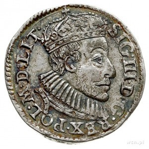 trojak 1588, Olkusz, nie notowany w katalogach; awers t...