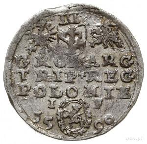 trojak 1590, Olkusz, na rewersie herb Lewart, Iger O.90...