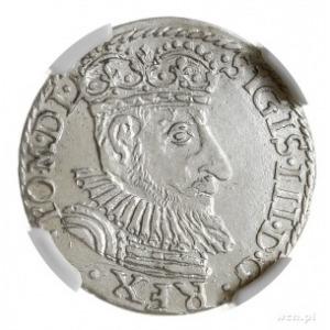 trojak 1592, Olkusz, na rewersie znak topór -zarządcy m...