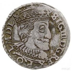 trojak 1592, Olkusz, napis NIAE dzieli litery I - F, Ig...