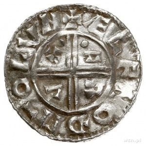 Aethelred II 978-1016, denar typu crux 991-997, mennica...