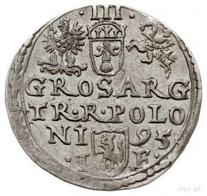 trojak 1595, Olkusz, z wężykiem pod popiersiem króla, I...