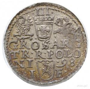 trojak 1598, Olkusz, Iger 98.1.b, moneta w pudełku PCGS...