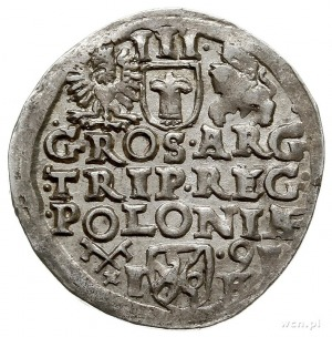 trojak 1591, Poznań, Iger P.91.3.a, bardzo ładny