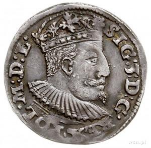 trojak 1595, Lublin, odmiana ze znakiem Topór (zarządcy...