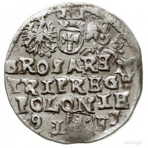 trojak 1597, Lublin, końcówka daty rozdzielona literami...