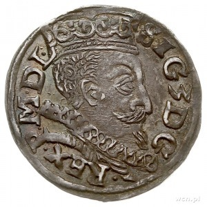 trojak 1597, Lublin, monogram Melchiora Reysnera bez ob...