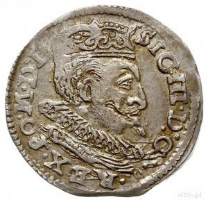trojak 1599, Lublin, z lewej strony herbu Lewart litera...