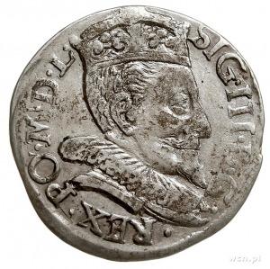 trojak 1593, Wilno, Iger V.93.1-/b, nie notowane popier...