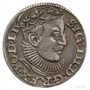 trojak 1589, Ryga, litery GE pomiędzy krzyżykami, Iger ...