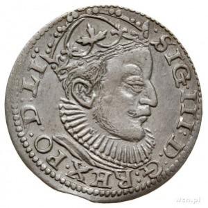trojak 1589, Ryga, z lewej strony liter GE lilijka, a z...