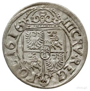 trzykrucierze 1616, Kraków, z herbem Sas (podskarbiego ...